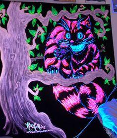 Alice In Wonderland Chesire Cat Blacklight Poster