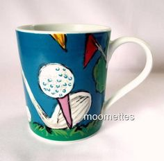 Golf Mug Golfing Club Putting Green Flag Sports Save the Children Coffee Cup  #SavetheChildren #GolfClubBallTeeFlagPuttingGreen