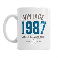 30th Birthday 30th Birthday Gift 30th Birthday Gifts For Men 30th birthday Gifts For Women 1987 Birthday Vintage 1987 Coffee Mug -- Check out this great product.Note:It is affiliate link to Amazon.