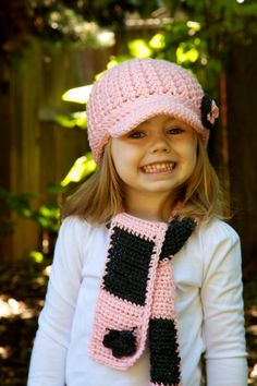 Girls Scarf & Beanie Set  Optional Brimmed or by OliJAccessories, $38.00