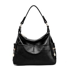 Color Scissor Women's Pu Leather Classic Shoulder Handbags Messenger Bag Crossbody Handbag Hobo Style Black - http://leather-handbags-shop.com/color-scissor-womens-pu-leather-classic-shoulder-handbags-messenger-bag-crossbody-handbag-hobo-style-black/