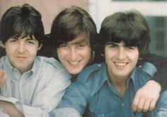 Paul McCartney, John Lennon, and George  Harrison