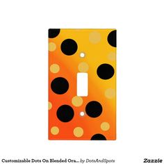 Customizable Dots On Blended OrangeToYellow Light Switch Plate