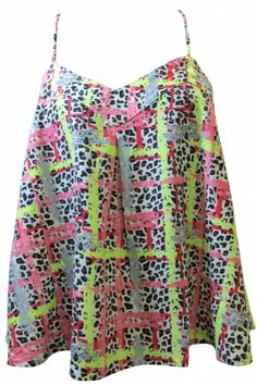 Love Neon Print Cami Top!