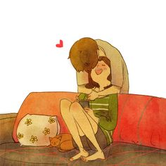 #Puuung #love #happiness #illustration