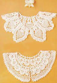 Crochet collar pattern with chart. Crochet Collar Pattern, Col Crochet, Crochet Lace Collar, Crochet Woman, Crochet Blouse, Thread Crochet, Crochet Shawl, Crochet Doilies, Hand Crochet