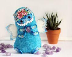 kawaii doll art caterpillar toy kawaii plush toy от LullabyForFox