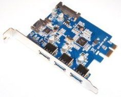 USB 3.0 3-Port(Ex) + SATA III 1-Port(Int) Combo Controller Card PCI-E with SATA Power Connector(Int) by Tenext. $18.99. Upgrade two functions of your computer in one card.  First, one internal SATA III port for a high speed solid state drive(SSD) with transfer rate up to 6Gbps. Includes SATA III data cable with locking clip.  Second, three external SuperSpeed USB 3.0 ports for with USB 3.0 devices. With backward compatibility with USB 2.0/1.1.  It also use a S...