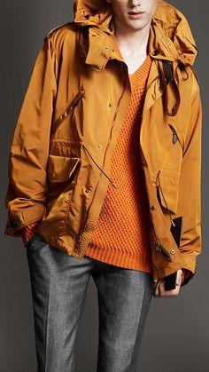 Burberry - Parkas orange jacket