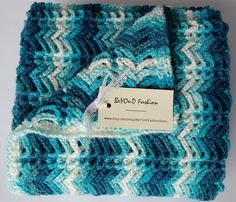 Baby blanket Blue to White Gradient Crochet Blanket Beyond Fashion by BeYOnDFashionStore on Etsy