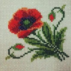This Pin was discovered by Işı Cross Stitch Kits, Counted Cross Stitch Patterns, Cross Stitch Designs, Beaded Embroidery, Cross Stitch Embroidery, Knitted Coat Pattern, Flower Chart, Cross Stitch Pictures, Bargello