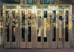Telephone Booths (1968) Richard Estes #art #photorealism