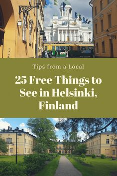 Here are 25 tips from a local, for what to see in Helsinki. All these sights are either free or inexpensive. Come and explore the wonderful capital of Finland! Cruise Travel, Cruise Vacation, Vacation Trips, Finland Destinations, Cruise Destinations, Finland Culture, Baltic Sea Cruise, Finland Travel, Europe Travel Tips