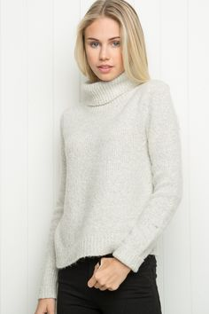 Brandy ♥ Melville | Cassia Turtleneck Sweater - Pullovers - Sweaters - Clothing