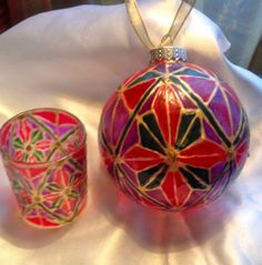 Belle Lafaye: Creations by Aria Christmas Bulbs, Great Gifts, Hand Painted, Etsy Shop, Shapes, Holiday Decor, How To Make, Handmade, Crafts