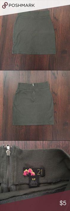 Olive green Forever 21 mini skirt Olive green Forever 21 mini skirt. Size Small. Forever 21 Skirts Mini