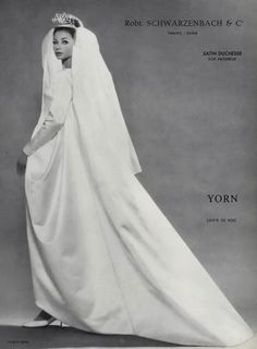 Image detail for -Yorn 1962 Wedding dress Fashion Photography by Louis Astre | Hprints ...