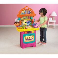 Dora the Explorer: Sizzling Surprises Kitchen -I love this because it includes so many pieces.-
