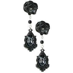 Dark Desires Earrings ($44) ❤ liked on Polyvore