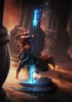 Wizard with Double-ended Staff  The Amazing, Official Art of Diablo III