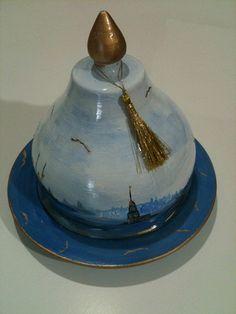 Meral Sanatevi: LOKUMLUK, VAZO BOYADIK... Home Crafts, Istanbul, Glass Art, Pottery, Kaftan, Desserts, Cushions, Modern, Kuchen