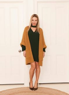 Jess Cartner-Morley in a statement cardigan