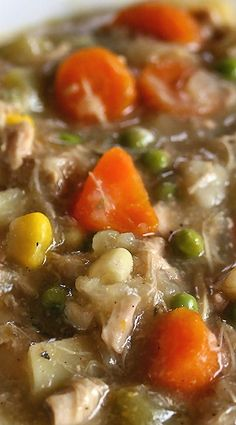 Slow Cooker Chicken Stew~ This is a lovely stew. I threw some nice veggies in there to make you smart and stuff, chicken to make you jump high (trust me), and tasty broth to make your throat feel good. It warms the belly and soothes the soul.