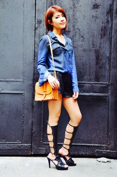 high heel boots~Front Row // Street Fashion & Outfits
