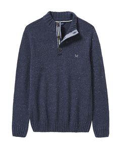 Clothing Half Button Nepp Jumper super warm knit is spun from a speckled merino and alpaca blend for premium cold weather comfort. button it up or show off the stylish stripe placket. merino wool, nylon, alpaca ribbed collar, cuffs and hem machine wash Christmas Offers, Crew Clothing, Cold Weather, Jumper, Buttons, Pullover, Stylish, Bobs, Merino Wool