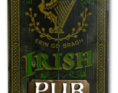IRISH FIDDLER PUB Wooden Plank Bar Sign by TorchWindsTrading