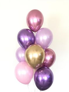 Background Lavender Purple Glitter Silver Princess Birthday Balloons Flower Backdrops Computer Print Party Background
