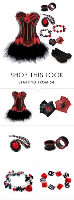 """Harley Quinn Inspired"" by botdfbvbrevenge ❤ liked on Polyvore featuring Accessorize"