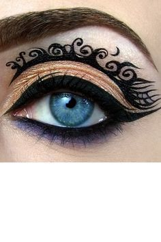 Fancy Eye Makeup. I don't care if people think this is grandma or something but I love it!