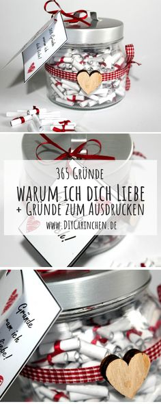 ♡♡♡ The perfect gift idea: DIY 365 reasons why I love you! do it yourself … – Best Gift Ideas 2019 ♡♡♡ The perfect gift idea: DIY 365 reasons why I love you! do it yourself … ♡♡♡ The perfect gift idea: DIY 365 reasons why I love you! Birthday Present Diy, Diy Birthday, Birthday Presents, Boyfriend Gift Diy, Presents For Boyfriend, Birthday Present For Boyfriend, Love Gifts, Gifts For Dad, Diy Gifts For Christmas
