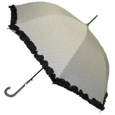 La Femme Cream Polka Dot Umbrella @ www.let-it-rain.com