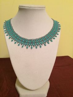 Great Gift! Perfect for the Holidays!Delicate Looping Pattern Handmade Beaded by LovelyNecklaces