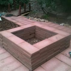 Brick fire pit. I want to do this in my backyard