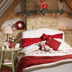 Christmas decorating in the bedroom Christmas Pinterest