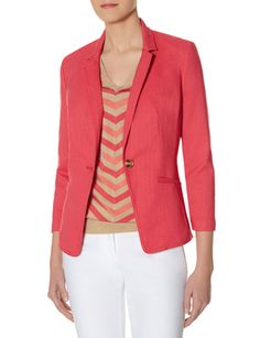 Colorful One Button Blazer from THELIMITED.com