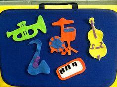The Trumpet went Toot Toot Toot! An original jazz-themed rhyme rendered in flannel from In the Children's Room blog.