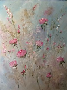 Vintage floral II-acrylic painting Flower Paintings, Watercolor Paintings, Laurence Amelie, Vintage Floral, Ethereal, Flower Art, Claire, Freedom, Paradise