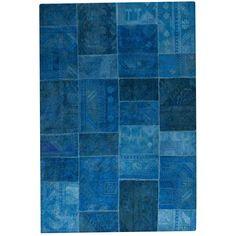 Sartaj Turquoise Hand Tufted Wool Rug