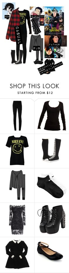 """Me in: 'hotel Transylvania'"" by j-j-fandoms ❤ liked on Polyvore featuring Alexander Wang, Nümph, Boohoo, Converse, Madewell, Pijama, NIKE, H&M, AiSun and Caramel Baby & Child"