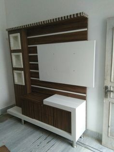 Simple and beautiful - unit panel Simple and beautiful Bedroom Furniture Design, Lcd Panel Design, Tv Cabinet Design Modern, Wall Unit Decor, Tv Unit Furniture Design, Tv Room Design, Cupboard Design, Lcd Wall Design, Wall Tv Unit Design