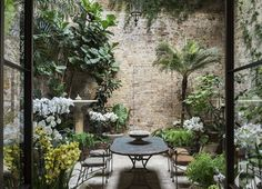 Does your small garden have you at the end of your tether? Small gardens, tiny terraces and petite patios may require a little more thought than larger spaces, but even the tiniest plot can… Continue Reading → Small Courtyard Gardens, Small Courtyards, Small Gardens, Outdoor Gardens, Indoor Courtyard, Brick Courtyard, Atrium Garden, Atrium House, Conservatory Garden