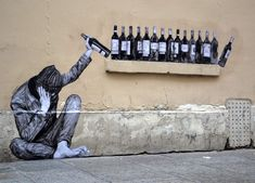 """One Too Many"", by Levalet - Paris, France - Jul 2015"