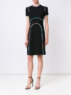Mary Katrantzou rainbow cloud seam dress
