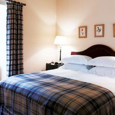 Take a room-by-room tour around beautiful Homes & Gardens readers' homes. This week we look inside a Scottish Highland retreat for stunning decorating inspiration. Be inspired by this tartan home with nods to its Highland location. Home Bedroom, Master Bedroom, Bedroom Decor, Bedroom Ideas, Bedroom Designs, Modern Bedroom, Scottish Decor, Scottish Cottages, Retreat House