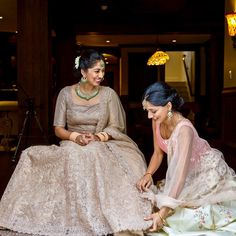 Beautiful Indian Bride with her sister Beautiful Indian Brides, Little Sisters, Maid Of Honor, Sari, Instagram, Dresses, Fashion, Maid Of Honour, Saree