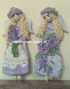 W Fine Porcelain China Diane Japan Polymer Clay Projects, Clay Crafts, Felt Crafts, Arts And Crafts, Cold Porcelain, Porcelain Ceramics, Clay Angel, Salt Dough Crafts, Dremel Wood Carving